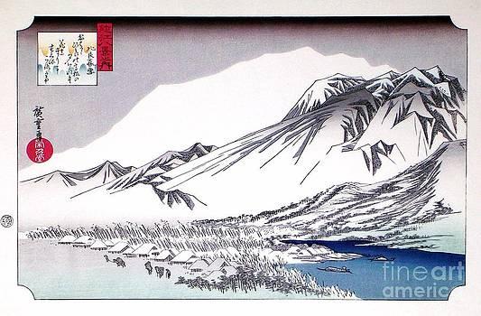 Hiroshige - Evening Snow at Hira