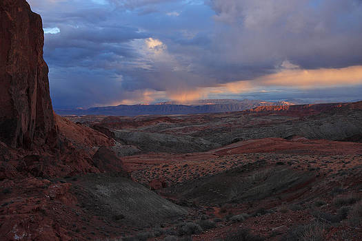 Evening Storm At Nevada's Valley of Fire by Steve Wolfe