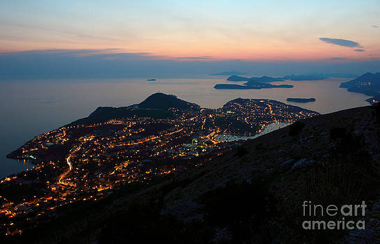 Evening View Toward Dubrovnik and the Dalmatian coast by Kiril Stanchev