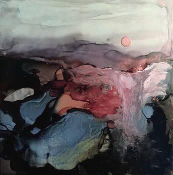 Evening Waterfall by Donna Pierce-Clark