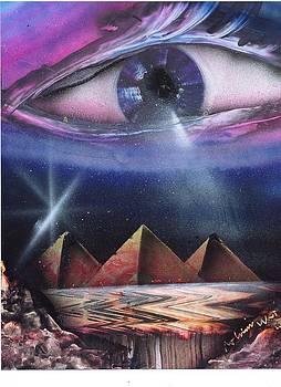 Evil eye or all seeing eyes by Roldan West