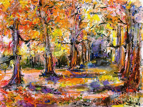 Ginette Fine Art LLC Ginette Callaway - Expressive Enchanted Autumn Forest