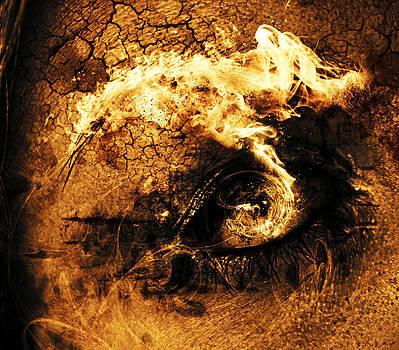 Eye Elements Fire by Ricky Sandoval