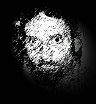 Face1 Under Black Light by Michael Ezerzer