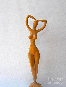 Faceless - Nude Woman by Carlos Baez Barrueto