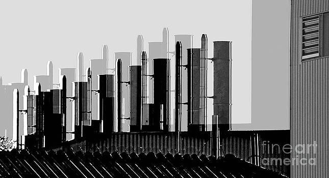 Factory Chimneys by Eva-Maria Di Bella