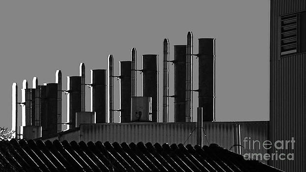 Factory Chimneys On The Roofs by Eva-Maria Di Bella