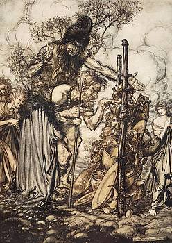 Arthur Rackham - Fafner Hey! Come Hither, And Stop