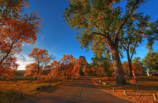 Fall at Devil's Tower National Monument by Chris  Allington