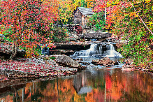 Mary Almond - Fall at Grist Mill