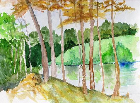 Fall at the Lake by Sandi Stonebraker