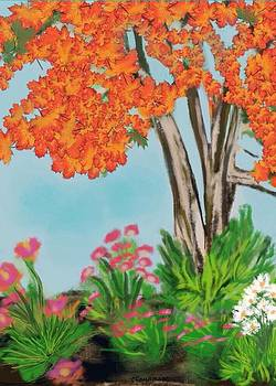 Fall Garden by Christine Fournier