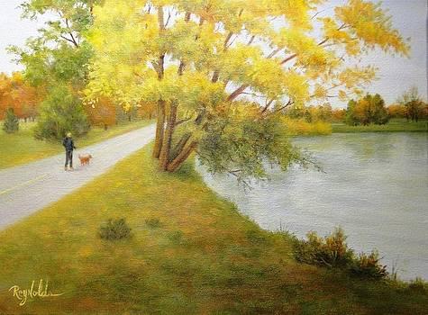 Fall Glory Greenlake Seattle by Carol Reynolds