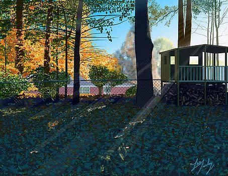 Fall In The Backyard by Lee Farley