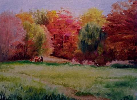 Fall Trail Ride by Donna Teleis