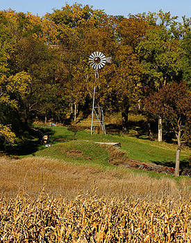 Tony Weatherman - Fall Windmill Nebraska