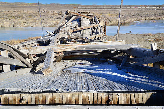 Fallen Wooden Bridge by Eric Nielsen
