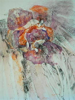 Falling Rose by Carolyn Rosenberger
