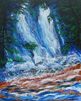 Waterfall in the Forest by Diane Pape