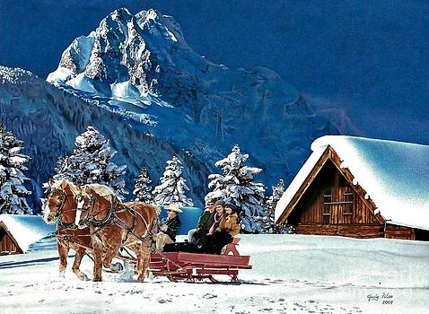Family sleigh ride by Judy Skaltsounis
