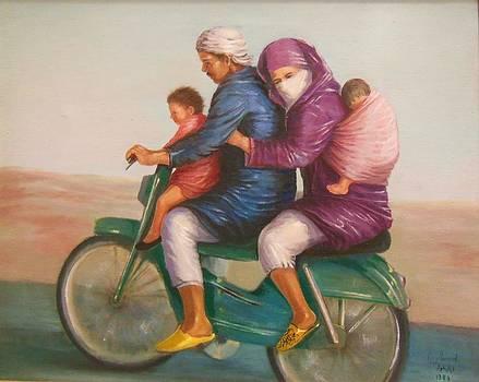 Family on a Motocycle by Laila Awad Jamaleldin