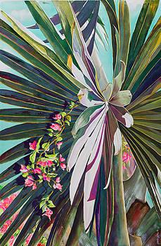 Fan Palm and Bougainvillea by Janis Grau