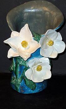 Fantasy Magnolia Vase handmade by Debbie Limoli