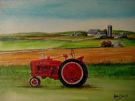 Farm All Tractor by Kendra Sorum