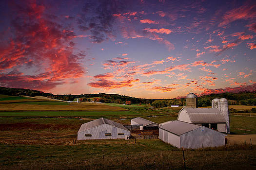 Farm at Sunset by Victoria Winningham