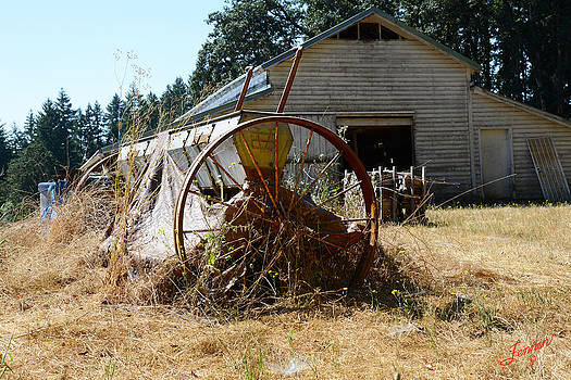 Farm Equipment and Barn by Charles Fennen