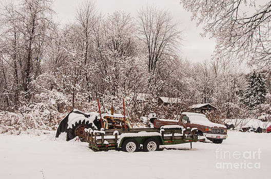 Farm Equipment in Winter by Jane Axman