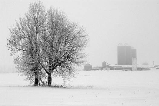 Farm in winter by Kevin Snider