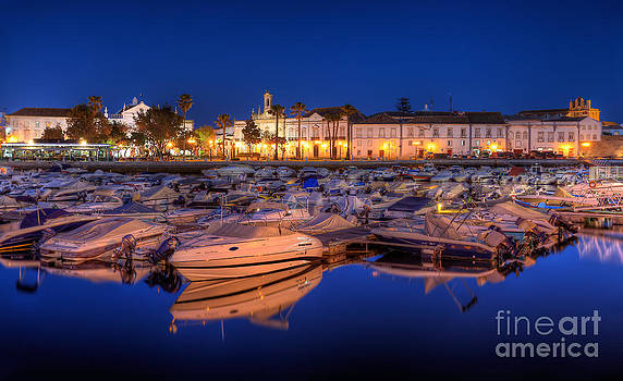 English Landscapes - Faro Marina at Night