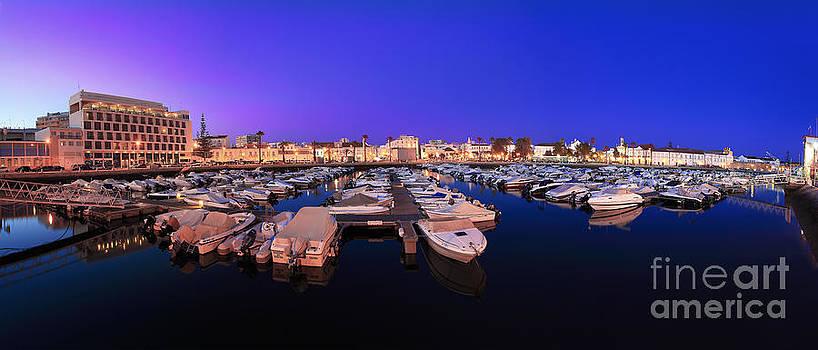 English Landscapes - Faro Marina at Night Panorama