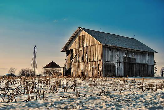 February Barn by Mark Orr