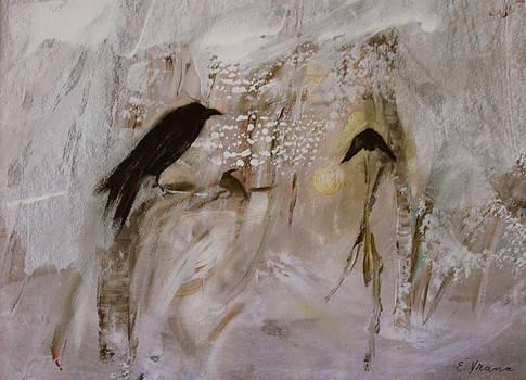 February   Crow Moon  Shawnee Tribe by Ethel Vrana