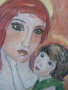 Fecioara Maria si Iisus Hristos by Farfallina Art -Gabriela Dinca-