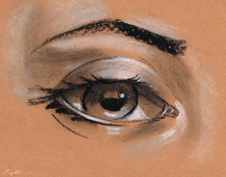 Female Eye Drawing by Carey Muhammad