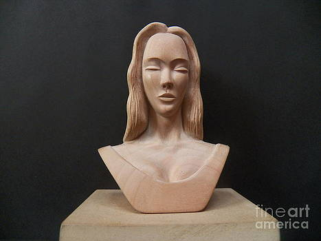 Female Head Bust by Carlos Baez Barrueto