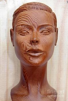 Female Head Bust - Front View by Carlos Baez Barrueto