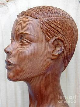 Female Head Bust - Side View by Ronald Osborne