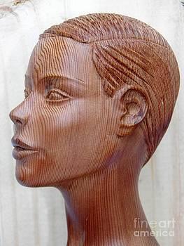 Female Head Bust - Side View by Carlos Baez Barrueto