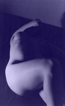 Female Nude 2 Blue by Christine Perry