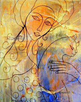 Femme avec Chat by Renate Dartois