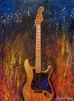 Fender On Fire by Andrew King