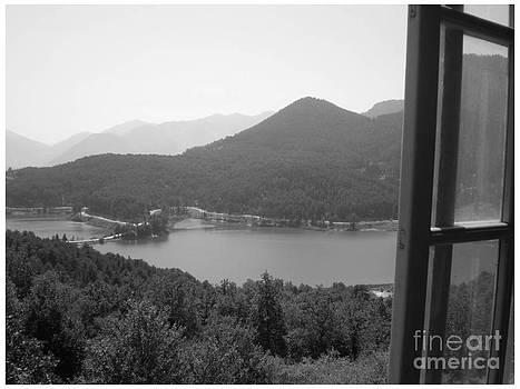 Feneos Lake in black by Katerina Kostaki
