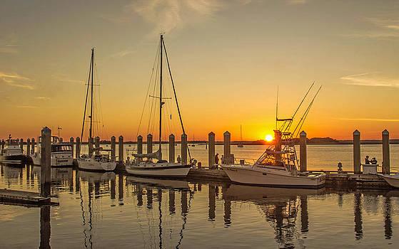 Fernandina Harbor Marina Sunset by DM Photography- Dan Mongosa