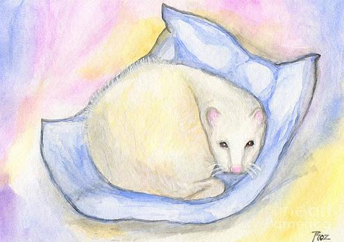 Ferret's Day Off by Roz Abellera Art