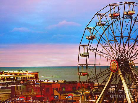 Ocean City New Jersey Ferris Wheel And Music Pier by Beth Ferris Sale