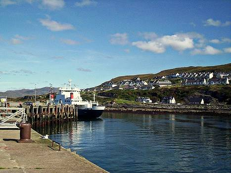 Ferry in Mallaig Harbour Scotland by Bill Lighterness